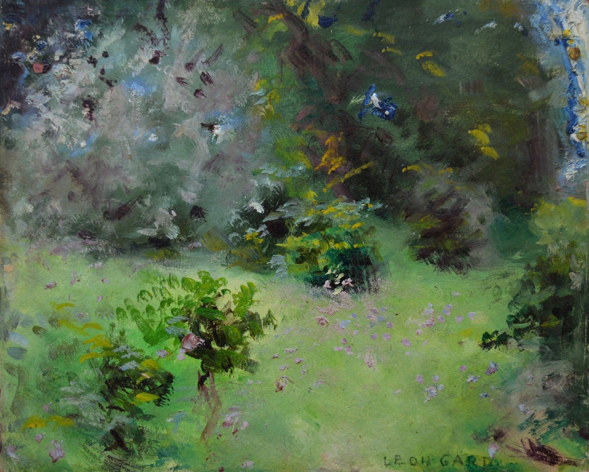 "Gard Léon (1901-1979) ""flowerbed In The Bonhsommes Park"" Isle Adam Tulle Paris"