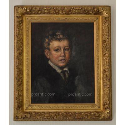 "MONTICELLI Adolphe (1824-1886) ""Jeune pâtre vers 1874"" Provence Marseille Cannes Castres Gogh"