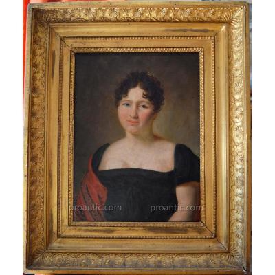 """DELAPLACE Jacques (1767-1831) """"Portrait de madame 1812"""" Empire Napoleon"""