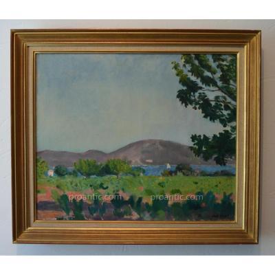 """VAN HASSELT Willem (1882-1963) """"Vue du Golf de Saint-Tropez"""" Provence Var Pays-Bas Arcachon"""