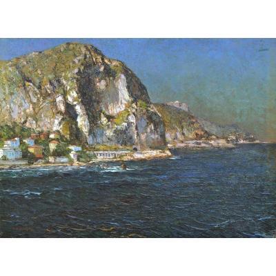 """BONAMICI Louis (1878-1966) """"Baie du Garavan à Menton"""" Provence Marseille Toulon Italie Nice Monaco"""