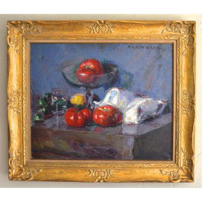 """GARD Léon (1901-1979) """"Nature morte aux tomates"""" Toulon Paris Morigny Provence Marseille"""