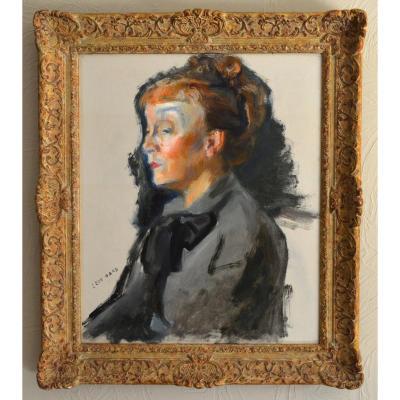 """Gard Léon (1901-1979) """"portrait Of Actress Jeanne Fusier-gir"""" Paris Guitry Theater Cinema"""