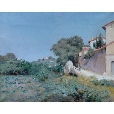"""NARDI François (1861-1936) """"Route de Provence au soleil"""" Toulon Nice Montenard Coudon Paris Marseille Paris"""