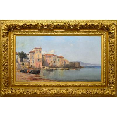 "Jourdan Ferdinand Louis (1851-1909) ""tour Vieille Distric In Saint Tropez 1892"" Var Provence Courdouan Paris Toulon Ramatuelle Pegurier"
