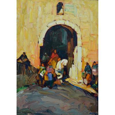 """PASTOUR LOUIS (1876-1948) """"Cavalier à Cagnes, Scène orientale"""" Provence Nice Antibes Var Bonamici Paris Soleil Orientaliste"""