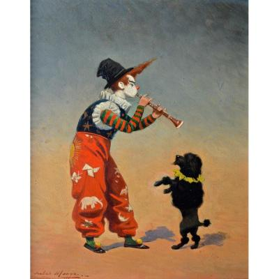 "Monge Jules (1855-1934) ""clown Dog Trainer"" Circus Caniche Marseille Comique Bouglione Gruss"