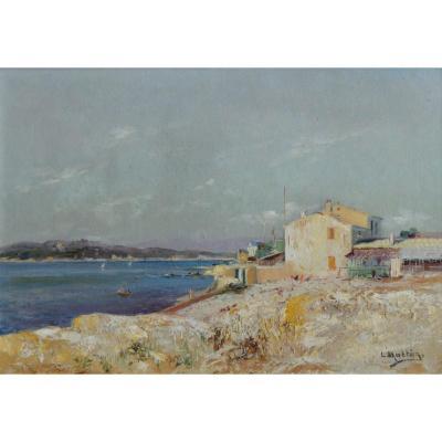 """Nattero Louis (1870-1915) """"the Jaï In Châteauneuf Les Martigues"""" Provence Marseille Toulon Paris"""