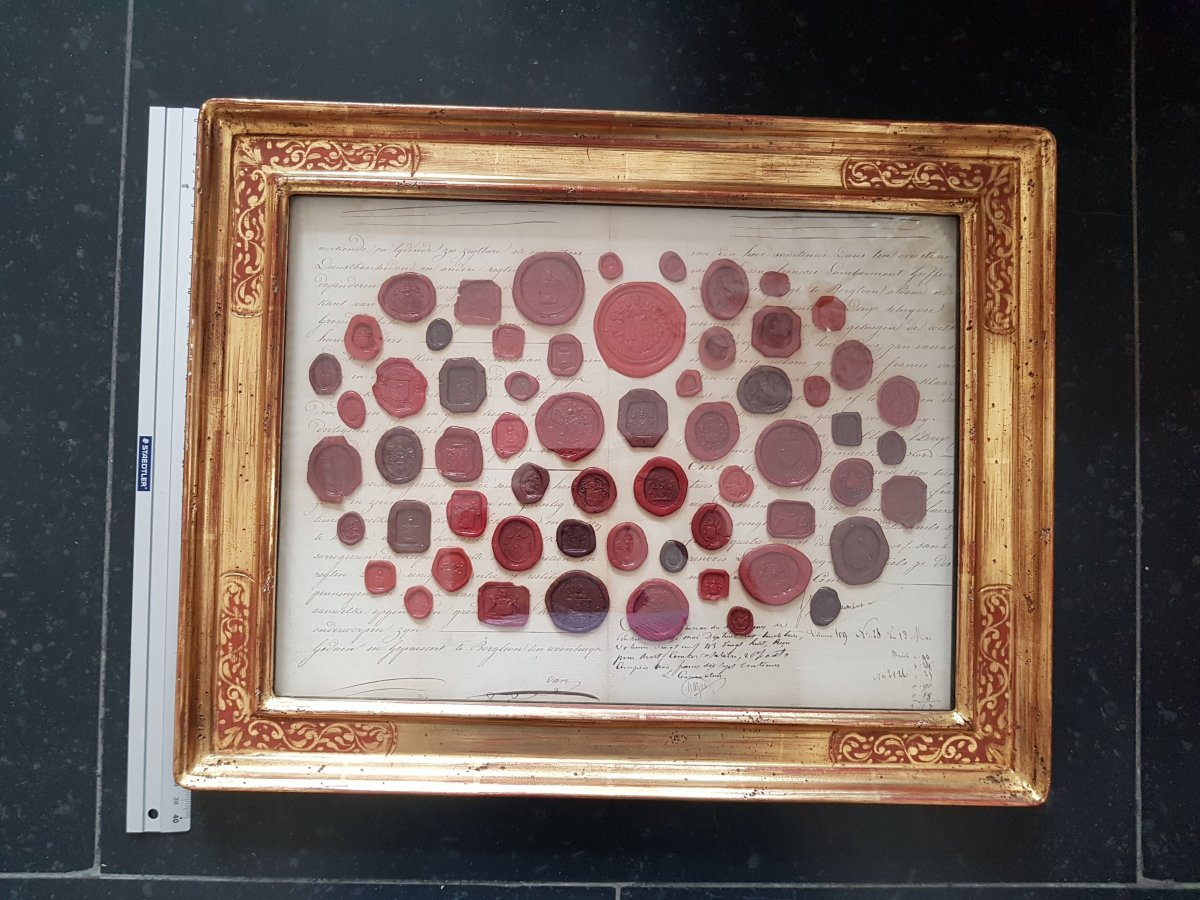 Frame With Emblazoned Seals