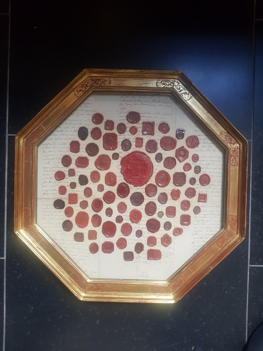 Octagonal Frame With Emblazoned Seals