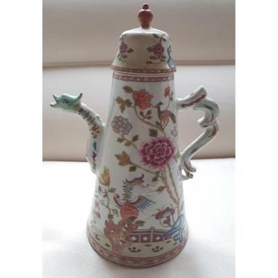 Famille Rose Coffee-pot And Cover Ca 1740