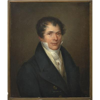 Portrait Of Gentleman Ca 1810 By F. Bolin