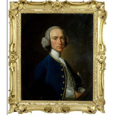Portrait By Henry Pickering Of George Hill 18th