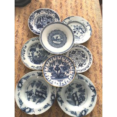 Collection Of Old Delft Plates