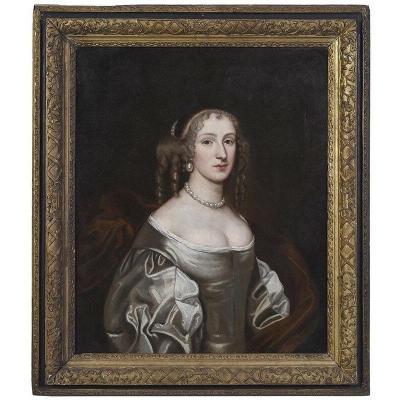 Portrait De Dame Aux Perles 18ème