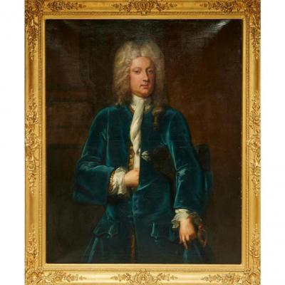 Portrait d'un gentilhomme C.1725 Attribué à Michael Dahl (1659-1743)