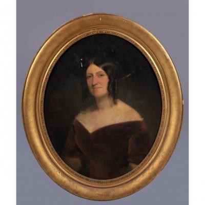 Portrait De Blanche De Virieu, Baronne De Bosmelet