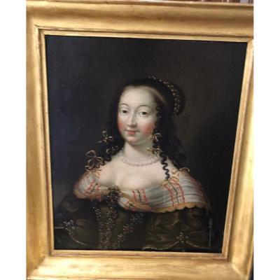 Portrait De Dame 17ème Siècle