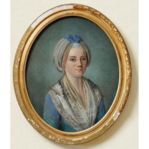 Portrait De Yolande Thérèse Claire Hubert, épouse De Guillaume Joseph Du Val (1720-1794