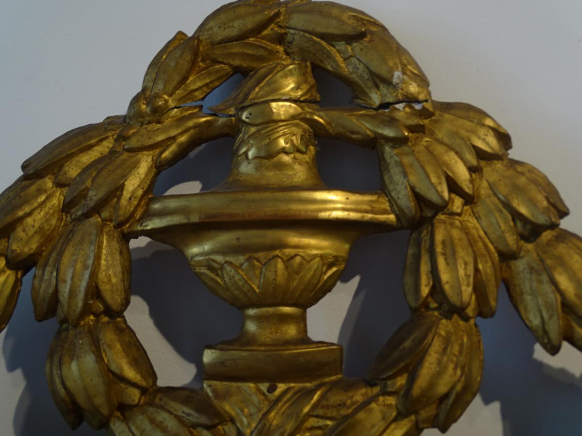 Miroir Bois Doré D époque Louis XVI-photo-2