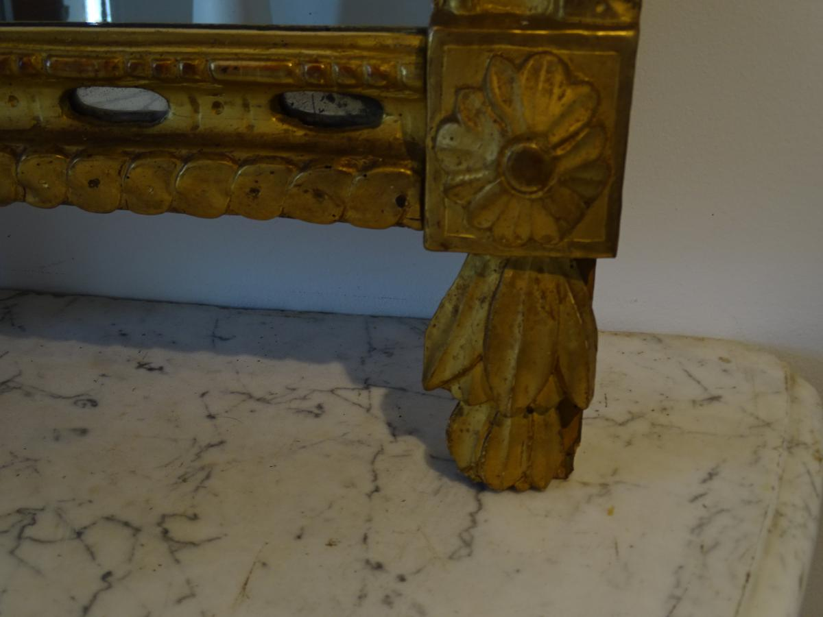 Miroir Bois Doré D époque Louis XVI-photo-1