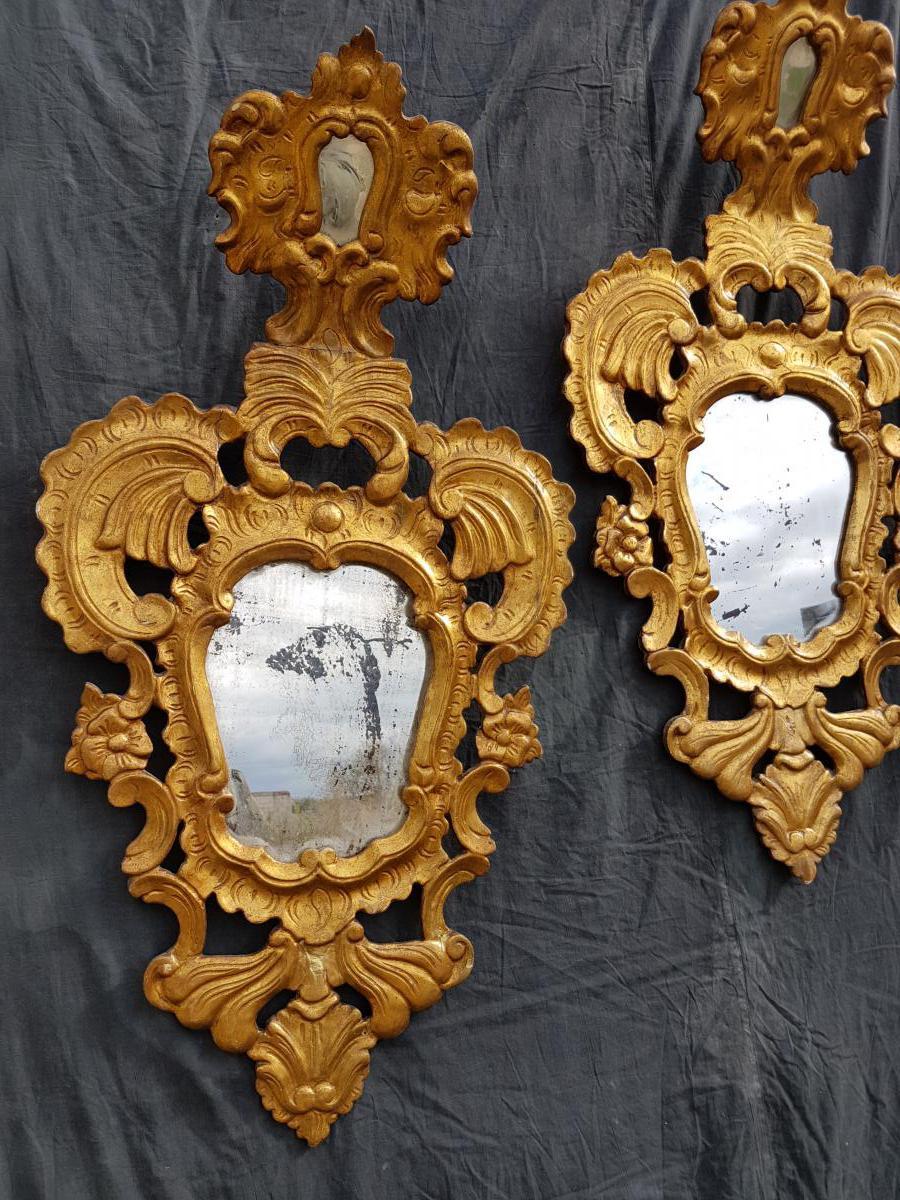 Paire De Miroirs Italiens , Venise, XIX
