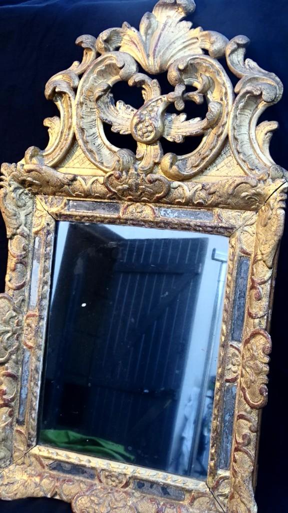 Miroir En Bois Doré D époque Régence