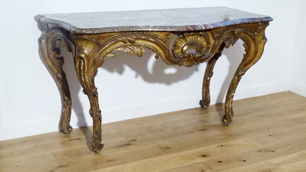 Large Console D époque Louis XV