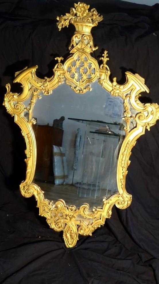 Miroir Stuc Doré Italie Du Nord
