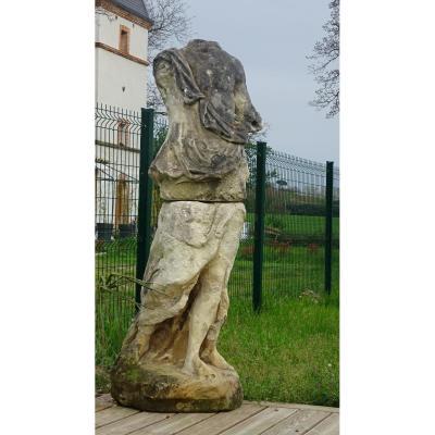 Grande Sculpture En Pierre Des Charentes D époque Louis XV