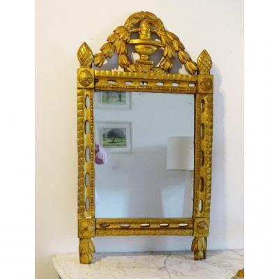 Miroir Bois Doré D époque Louis XVI