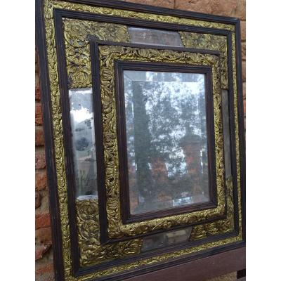 Miroir ancien sur proantic antiquit for Miroir louis xiii