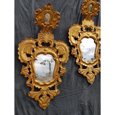 Pair Of Mirrors Italians, Venice, XIX