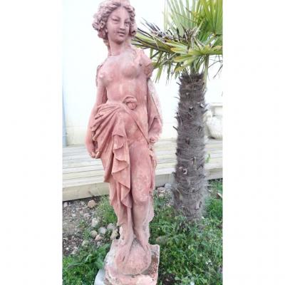 Statue De Parc En Terre Cuite