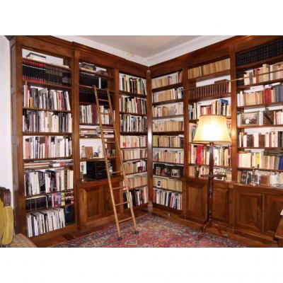 Bibliothèque D Angle De Boiserie XIX