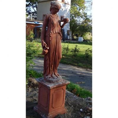 Sculpture De Parc  Façon Terre Cuite