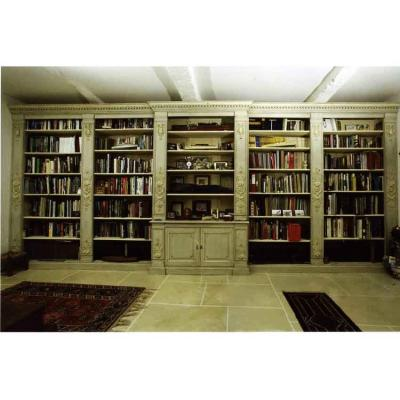 Large Library Woodwork Lacquered Wood