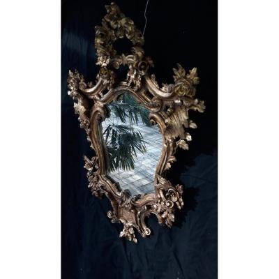 Baroque Golden Wood Mirror