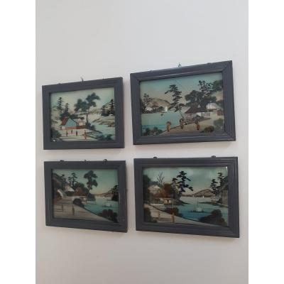 Four Series Fixed On Glass