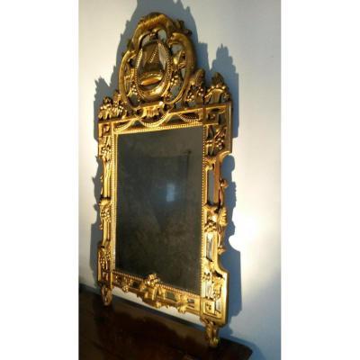 D Mirror Golden Wood Louis XVI