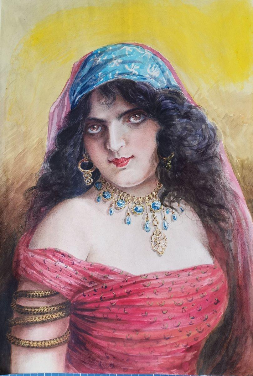 Portrait d'une orientale.