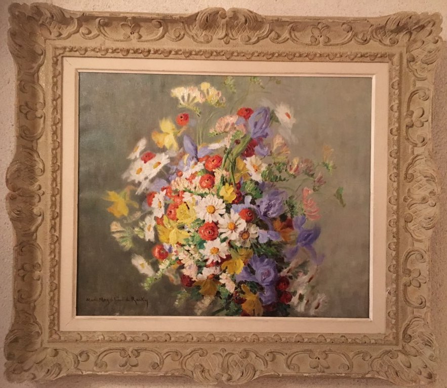 Hst: Bouquet Of Flowers. Marie-madeleine De Rasky