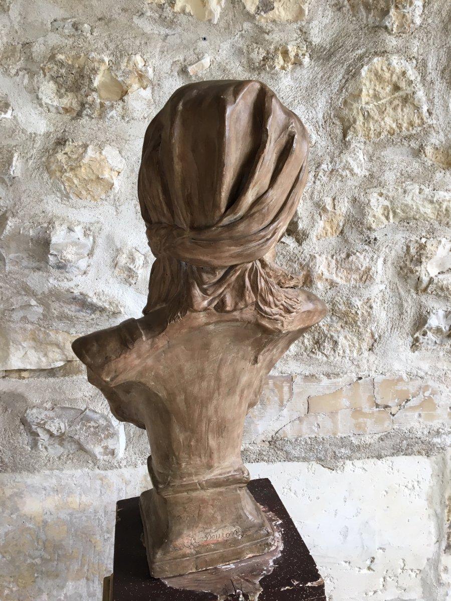 Buste En Terre Cuite - XIXème-photo-2