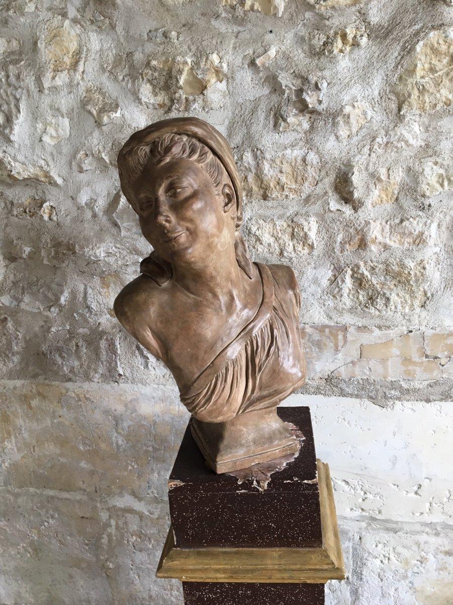 Buste En Terre Cuite - XIXème-photo-3