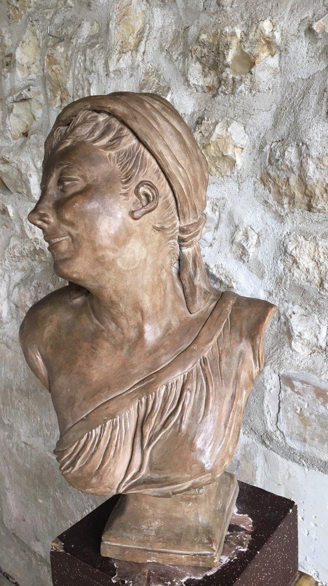 Buste En Terre Cuite - XIXème-photo-4