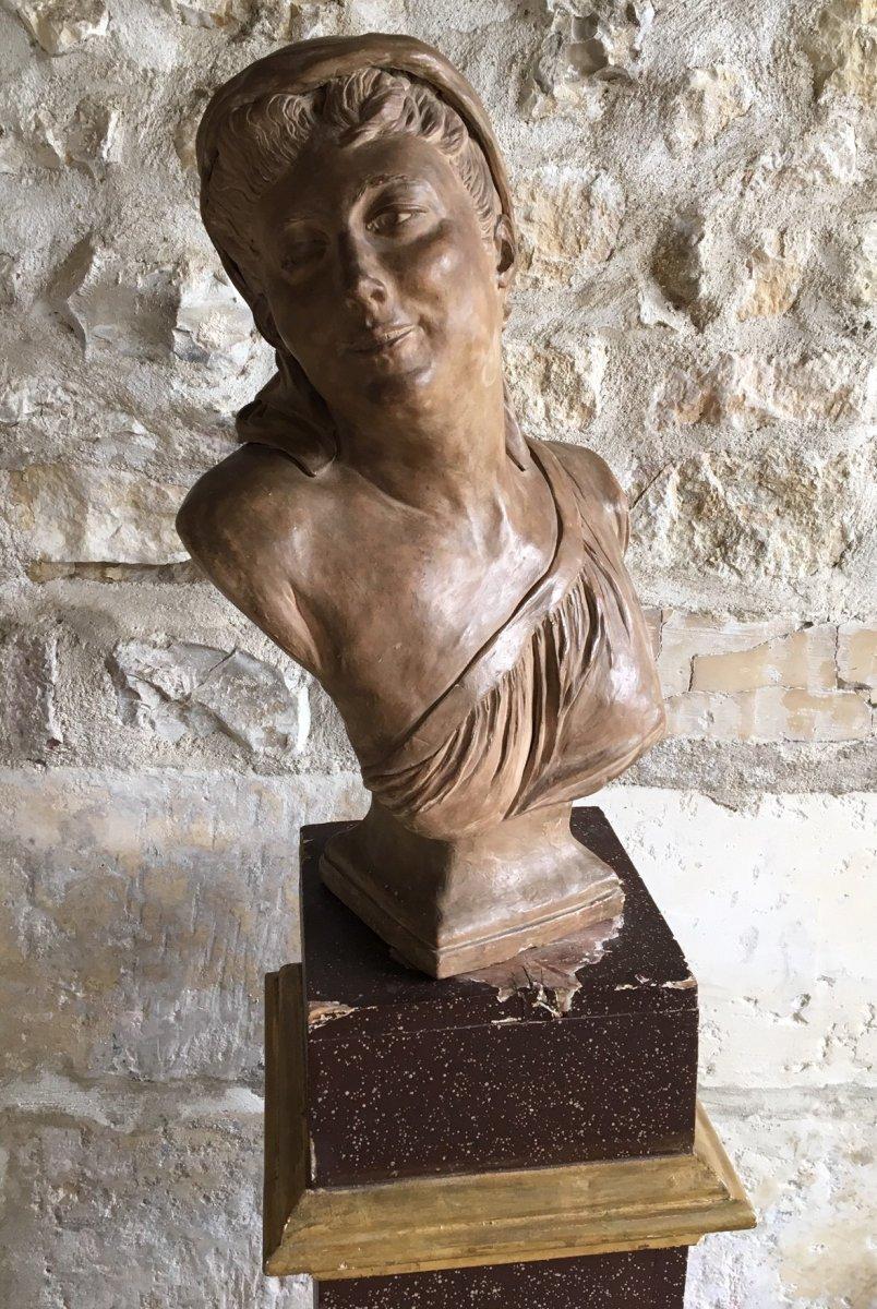 Buste En Terre Cuite - XIXème