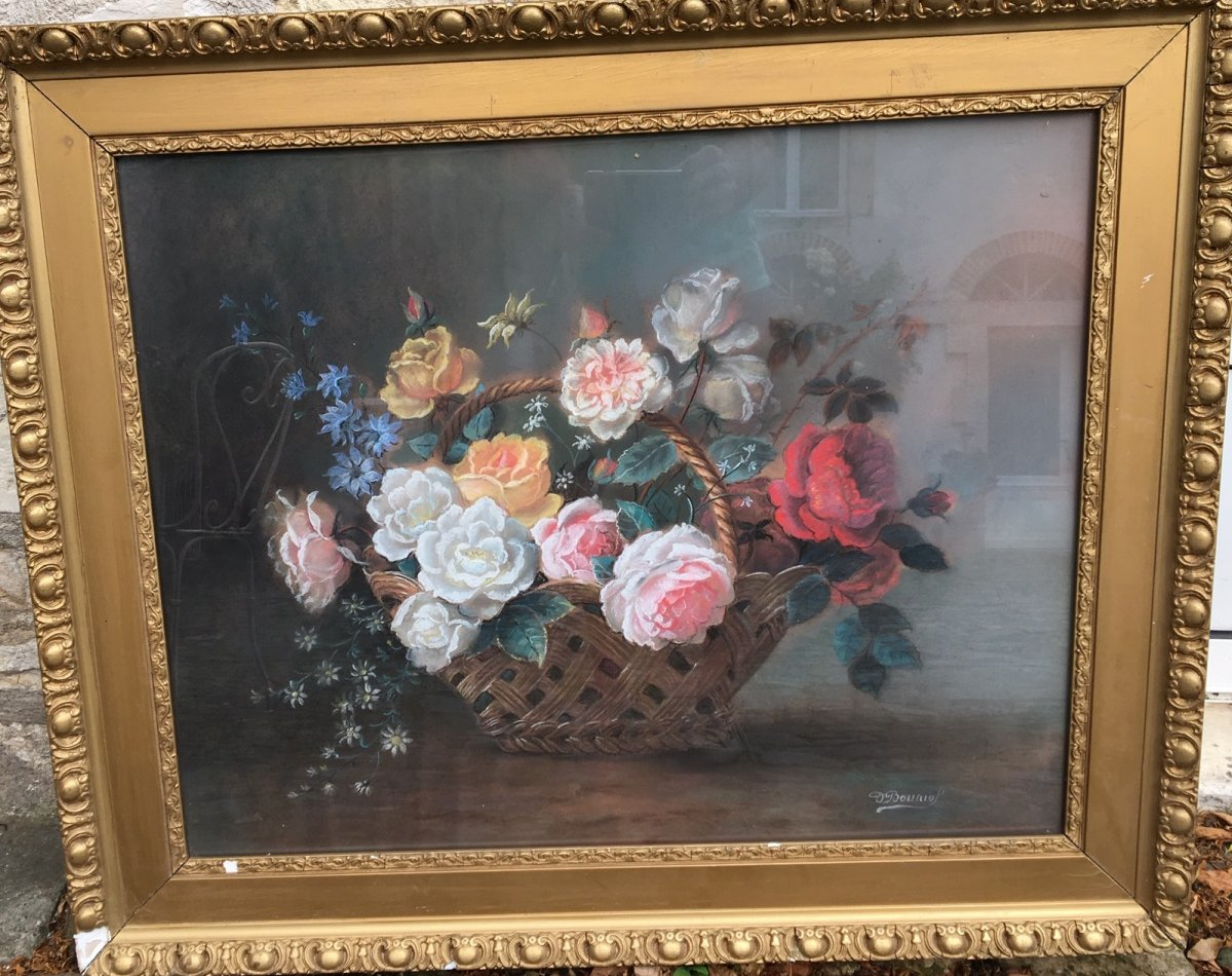 Pastel, Still Life With Flowers