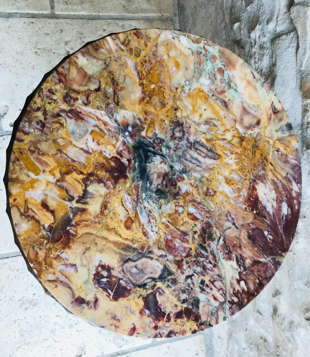 Guéridon Art Déco En Fer Forgé-photo-1