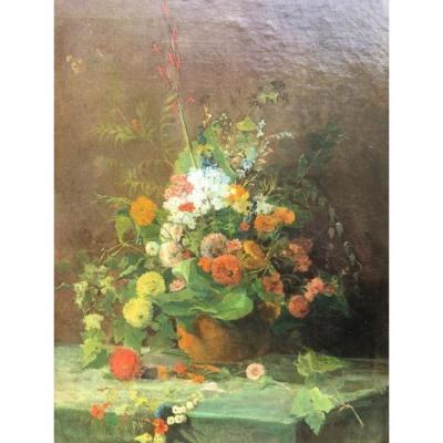 Bouquet De Fleurs, XIXème