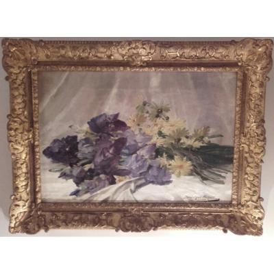 Bouquet d'Iris Et Marguerite - Dominique Rozier